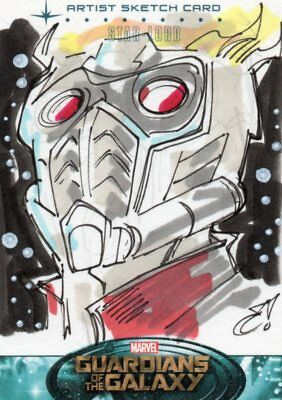 Marvel Guardians of the Galaxy 2014 - High End Sketch Card #91 Star-Lord