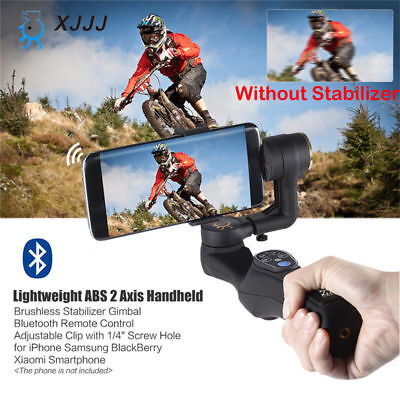 XJJJ 2-Axis Handheld Stabilizer Video Steadicam Gimbal for Phone iPhone Samsung