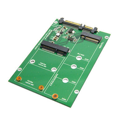 Combo Mini PCI- E 2 Lane M.2 NGFF B/M-key & mSATA SSD to SATA 3.0 III Adapter