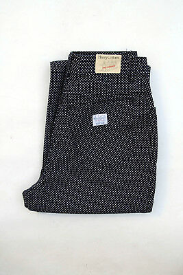 Henry Cottons Girl 16 Yrs Blue Bootcut Leg Trousers Cotton Italy BNWT Polka dots