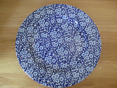 "Queens Blue Calico Pattern 12 "" Servng Plate Plate"