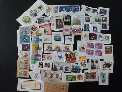 Mixture World  stamps on paper*