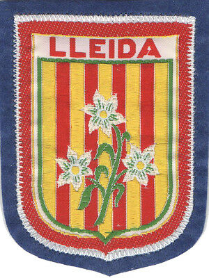 PARCHE bordado en tela ESCUDO DE LLEIDA, EMBROIDERED PATCH, TUNAS