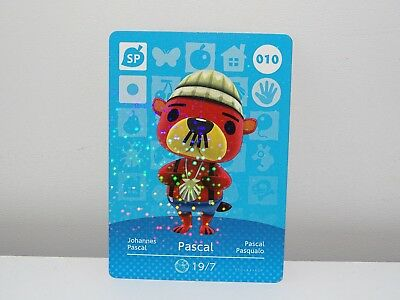 Amiibo Animal Crossing Card Pascal no. 010 Top