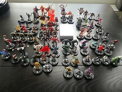 Marvel Heroclix Lot Incl Generics, Limited Edition And Super Rare Figures