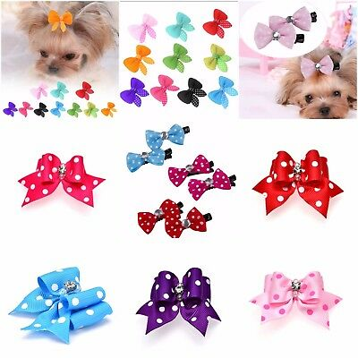 Pet Hair Bows Hats Dogs Cats Puppy Hair Clips Accessories Please Choose Style