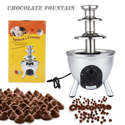 Chocolate Fountain Waterfall Dessert Stainless Steel Electric Party Celebration