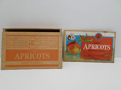 Glazed Apricots Wooden Box Product of Australia