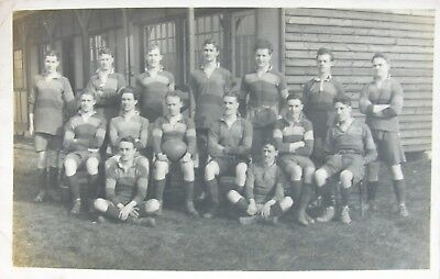 Aldeburgh Football Club Suffolk 1920 Rp Pc