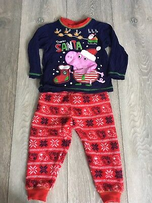 Boys Peppa Pig Christmas Pyjamas 12-18months