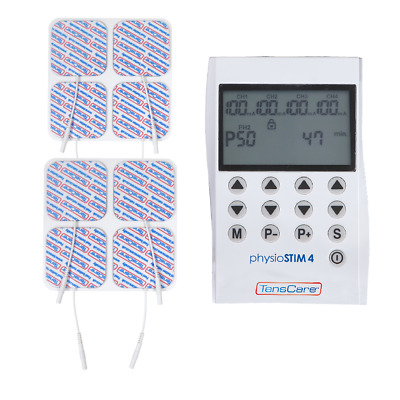 PhysioSTIM 4 - Advance TENS, EMS and Massage Programmes 4 CHANNEL UNIT! TensCare