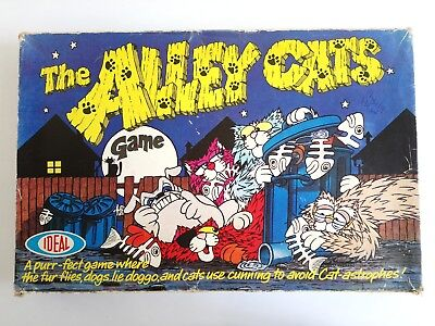 Vintage THE ALLEY CATS Board Game By IDEAL