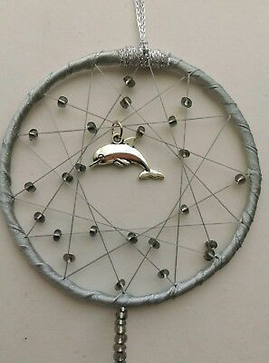 Dolphin MINI Dreamcatcher Abstract Modern Design Unusual SEALIFE Present Gift
