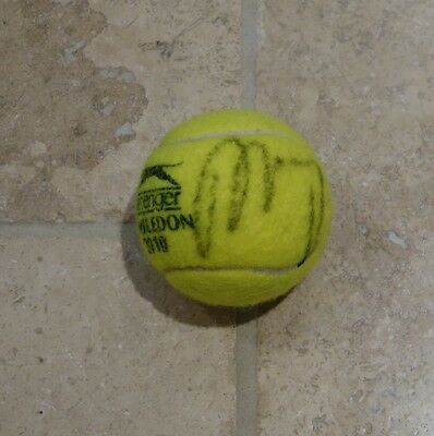 Andy Murray Hand Signed Wimbledon Tennis Ball with COA