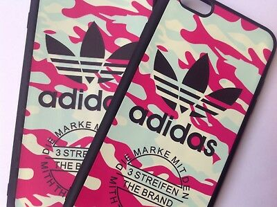 Soft TPU Military Pink Camo Adidas Logo Phone Case for iPhone 6/6S