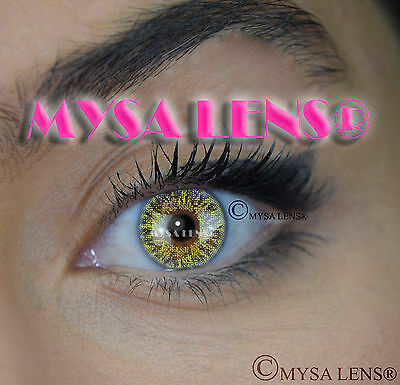 Colored Contact Lenses Kontaktlinsen Mangue Green Lens Color 1 Year MYSA LENS