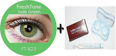Contact Lenses Colored  FRESHTONE® Jade Green + Case + AVIZOR solution 10 ML