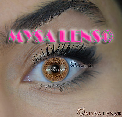 Colored Contact Lenses Kontaktlinsen Lens Color Brown I-110 1 Year MYSA LENS