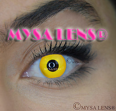 Crazy Coloured Contact Lenses Kontaktlinsen color contact lens Yellow Out