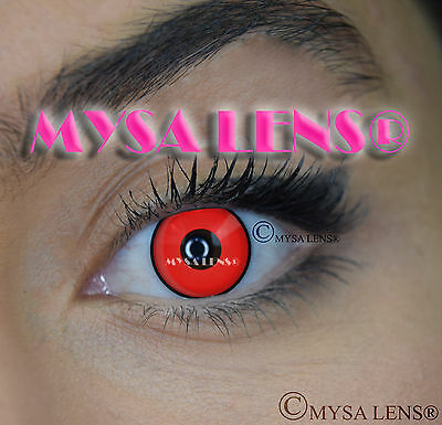 Crazy Coloured  Lenses Kontaktlinsen color  lens Red Manson