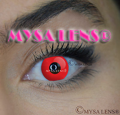 Crazy Coloured Contact Lenses Kontaktlinsen color contact lens Red Out