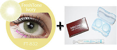 Contact Lenses Colored  FRESHTONE® Ivory  + Case + AVIZOR solution 10 ML