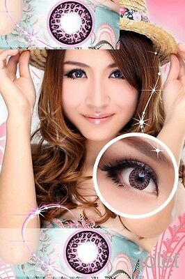 Crazy Coloured Contact Lenses Kontaktlinsen color contact lens Leopard Pink
