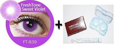 Contact Lenses Colored  FRESHTONE® Sweet Violet + Case + AVIZOR solution 10 ML
