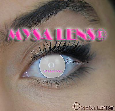 Crazy Coloured Contact Lenses Kontaktlinsen color contact lens White Blind