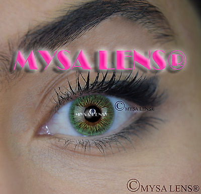 Colored Contact Lenses Kontaktlinsen Green S3-325 Lens Color 1 Year MYSA LENS