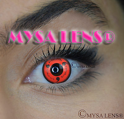 Crazy Coloured Contact Lenses Kontaktlinsen color contact lens Naruto Sasuke