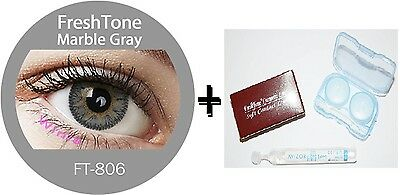 Contact Lenses Colored  FRESHTONE® Marble Gray + Case + AVIZOR solution 10 ML