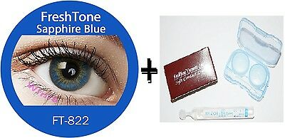 Contact Lenses Colored  FRESHTONE® Sapphir Blue + Case + AVIZOR solution 10 ML