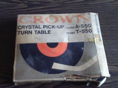 CROWN A-550 - CRYSTAL PICK-UP - T-550 TURN TABLE - VINTAGE RARITÄT 60er JAHRE