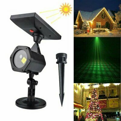 Waterproof Outdoor Christmas Lights Laser Solar Power Starshower Projector House