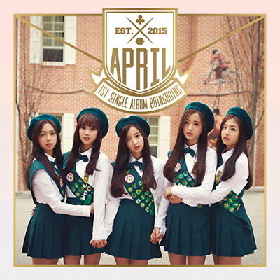 April - Boing Boing (1st Single) CD+Booklet+Photocard New Sealed  KPOP