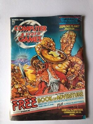 computer and video games magazine - Vintage Magazine from March 1985