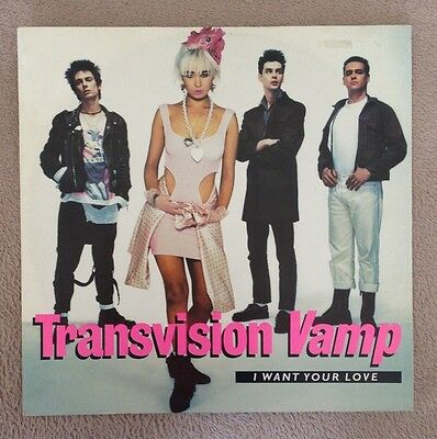 """12"""" Transvision Vamp I Want Your Love  1988."""