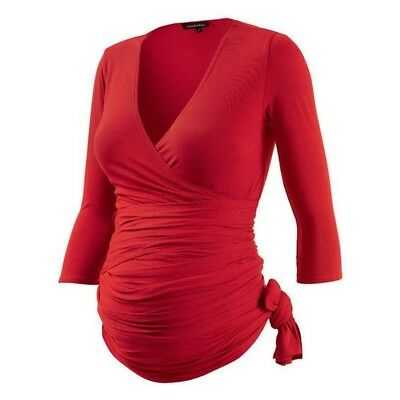 Maternity ruched top - Isabella Oliver Red - Size 2