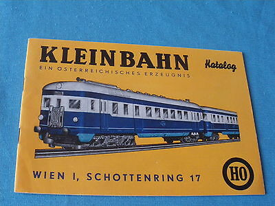 Kleinbahn Catalogue 32 Pages 1965/66 Ho