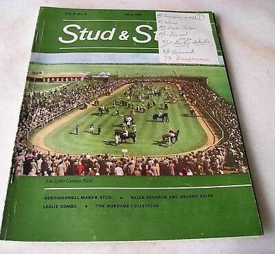STUD AND STABLE MAGAZINE VOL. 5 No. 5 May 1966 Cover  2,000 GUINEAS FIELD