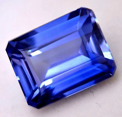 Ring Use 11.60 Ct Natural Royal Blue Sapphire AGSL Certified Emerald Cut Gem
