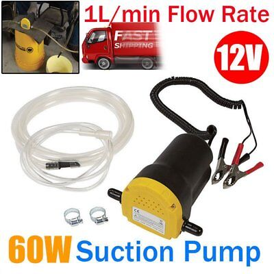 Oil Diesel Extractor Suction Pump Transfer Fluid Change Car Boat 12V 60W RO