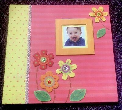 Scrap Book Photo Album New Baby With Stickers Frames Borders Die Cuts Paper Baby
