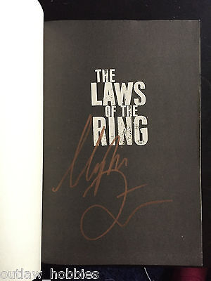 Urijah Faber Laws of the Ring Autographed Signed Book COA