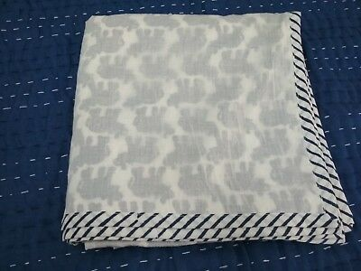 Hand Block Print Cotton Dohar , Soft Voile Ac Quilt, Baby Size Blanket Animal