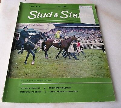 STUD AND STABLE MAGAZINE VOL. 5 No. 8 August 1966 Cover  CHARLOTTOWN