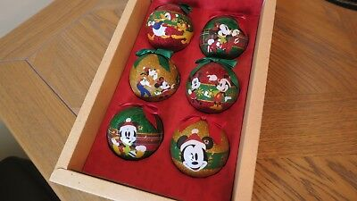 NEW Disney Store Sketchbook Christmas Tree Ornament Collection Set of 6 Baubles