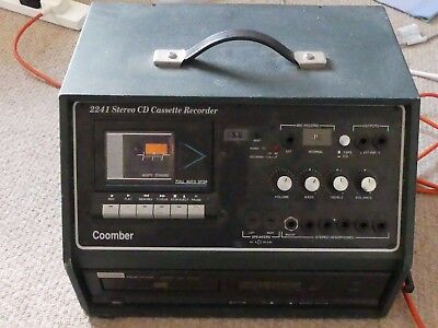 Coomber 2241 portable stereo CD / Cassette player