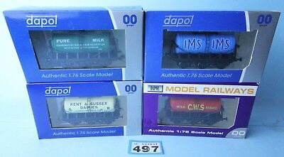 Dapol 'oo' Gauge Qty Of 4 Various Assorted Tanker Wagons Boxed #497B